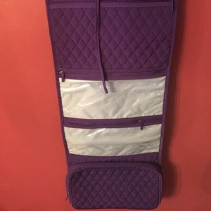 Vera Bradley travel hanging organizer in purple